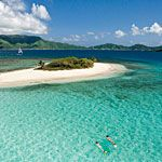 sandy cay, british virgin islands. I love The crystal clear water. Makes me want to go even more!