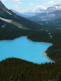 colours of Peyto Lake, Banff National Park, Alberta, Canada