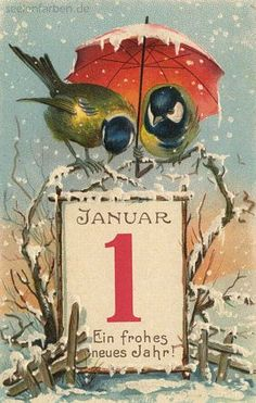 image nouvel an Vintage Happy New Year, Happy New Years Eve, Happy New Year Cards, New Year Greetings, Vintage Greeting Cards, Vintage Christmas Cards, Retro Christmas, Xmas Cards, Christmas Art