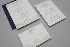 22 Free Printable Wedding Invitations: Lace And Pearls Printable Wedding Invitation