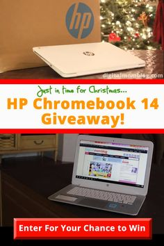 HP Chromebook 14 Giveaway from @Digital Mom - just in time for Christmas! http://www.digitalmomblog.com/hp-chromebook-giveaway/