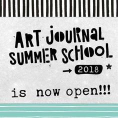 And we're LIVE! All Art Journal Summer School lessons are now available. Wishing you a super creative summer!   You can still sign up, and you'll get instant access to the whole course! https://www.bloknoteacademy.nl/?friend=8&product=art-journal-summer-school-2018