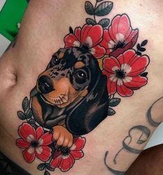 Best Dog Tattoos Designs And Ideas Designatattoo – Dog Tattoos Dog Tattoos For … Dog Tattoos, Animal Tattoos, Body Art Tattoos, Sleeve Tattoos, Tattoo Ink, Arm Tattoo, Great Tattoos, Tattoos For Guys, Daschund Tattoo