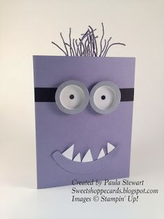 Evil Minion Card.  #stampinup #minion  #kids
