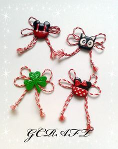 ръчно изработени мартеници Biscuit, 8 Martie, Class Decoration, Dyi, Macrame, Origami, Diy And Crafts, Polymer Clay, Projects To Try