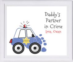 Police Car made from your child's prints by MyForeverPrints More
