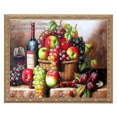 Fruit still life home decorative 3D DIY diamond embroidery painting needlework 30x30 square drill rhinestone mosaic Gift #Affiliate