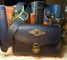 Steampunk goggle case/bag in gorgeous black by dreameddesigned