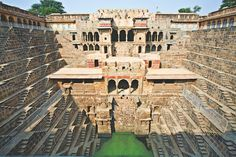 """12 Amazing Places Most Millennials Will NEVER See #refinery29  http://www.refinery29.com/2016/09/122920/atlas-obscura-book#slide-6  Stepwells Of India, Across Northern & Western India""""These incredible architectural masterpieces call to mind M.C. Escher illustrations. Hundreds of carved stone steps lead down to water; these were built to serve as local sources of water. A French traveler in 1864 described seeing a 'vast sheet of water, covered with lotuses in flower, amid which thousands of a"""
