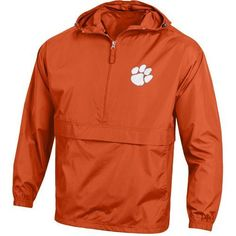 Champion Men's Clemson University Packable Jacket (Orange, Size Large) - NCAA Licensed Product, NCAA Men's Fleece/Jackets at Academy Sports