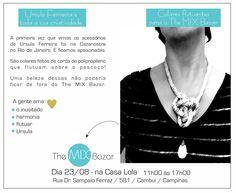 O inusitado no The Mix Bazar.  É sábado, na casa Lola. #themixbazar #colar #casalola #acessorios #originalidade #leveza #ursulaferreira