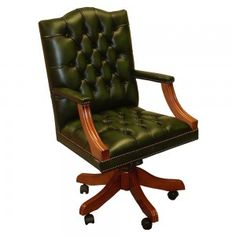 Swivel desk chair leather