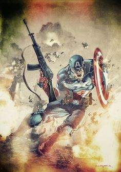 Captain America (Steve Rogers) by Angel Unzueta
