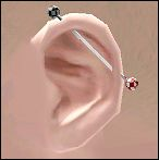 Mod The Sims - Industrial Piercing -ear piercing-