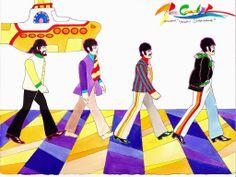 Yellow Submarine' animator, Beatles cartoon director schedules . Yellow Things yellow submarine Abbey Road, Ringo Starr, George Harrison, Paul Mccartney, Julian Lennon, Yellow Submarine, Pop Rock, Rock And Roll, Cartoon Tv