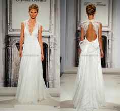 Pnina Tornai 2016 Wedding Dresses Full Lace V Neck Beads Cheap Vintage A Line Backless Open Back Sexy Sheer Beach Wedding Dress Bridal Gowns Wedding Princess Dresses A Line Gown From Myweddingdress, $202.07| Dhgate.Com