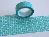 Washi Masking Tape mint Blumen Kreise Muster