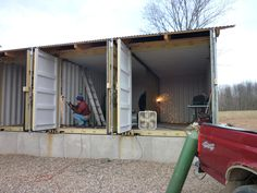 shipping container for storage building - Google Search
