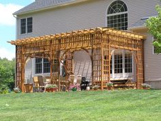 How to Build a Pergola Attached to the House | close window baldwin pergolas 440 middlefield street middletown ct ...