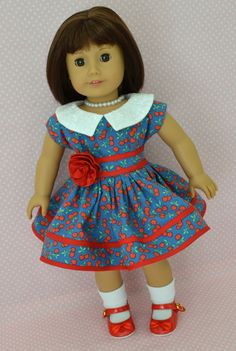 Vintage '40s in Blue and Red | marshmallowjane clothing for dolls