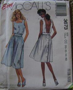 VINTAGE McCall's Pattern M3673 Misses' Dress door GGselections