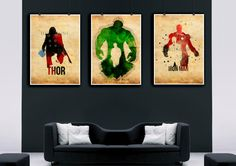 Hulk,avengers,incredible hulk,Watercolor print, Iron Man Watercolor,Thor,Marvel Comics