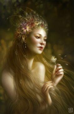 Kai Fine Art is an art website, shows painting and illustration works all over the world. Fantasy Women, Fantasy Art, Illustrator, Narcisse, Dream Art, Female Art, Beauty Women, Beauty Art, Les Oeuvres