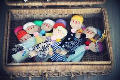 Marionnettes-cuillères en bois pour les voyage - Etdieucrea.com