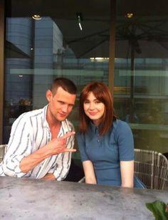 Karen Gillan and Matt Smith