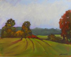 Original Landscape Painting, Oil on Pintura Panel, Early October Scene, Autumn Fields, 8 x 10, Unframed, Vermont Landscape, Fall by TennesseeBumblebee on Etsy
