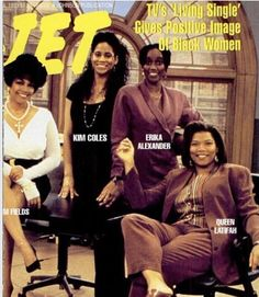 The women of Living Single on Jet magazine