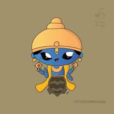 Krishna Painting, Krishna Art, Om Art, Shree Krishna Wallpapers, Art Drawings For Kids, Easy Drawings, Indian Contemporary Art, The Last Avatar, Hindu Dharma