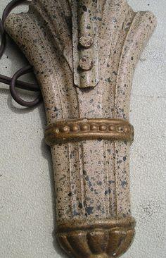 Art deco cast iron light fixture/wall sconce by SquareNailSalvage, $28.00