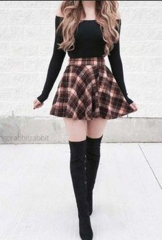 36 schicke Herbst-Outfit-Ideen, die Sie lieben werden, 36 chic fall outfit ideas you'll love Source by Teenage Outfits, Teen Fashion Outfits, Cute Fashion, Look Fashion, Outfits For Teens, Autumn Fashion, Fashion Dresses, School Outfits, Fashion Clothes