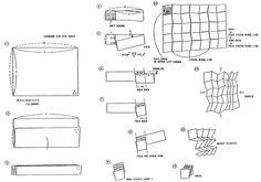 Miura folds paper fold origami style poster brilliant
