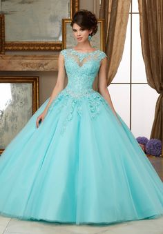 Satin Tulle, Tulle Ball Gown, Tulle Balls, Blue Ball Gowns, Sweet 16 Dresses, 15 Dresses, Fashion Dresses, Debutante Dresses, Modern Princess