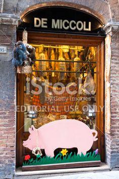 Delicatessen Shop De Miccoli Siena Royalty Free Stock Photo