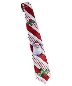 Take a look at this White & Red Santa Candy Cane Tie - Men on zulily today!