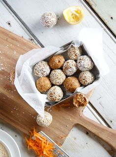 Raw Carrot Cake Protein Balls