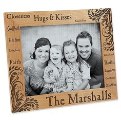 Family Pride X Picture Frame - Display those favorite family moments captured in time with our exclusive Family Pride Personalized Photo Frame. This creative design is delicately laser engraved on a rich wood frame in your choice of 3 sizes. Picture Frame Display, Family Picture Frames, 10 Picture, Laser Engraved Gifts, Photo Cubes, Personalized Picture Frames, Cleaning Wood, Collage Frames, Unique Photo