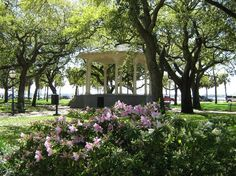 Battery Park, Charleston, SC. I could spend all day under those trees...