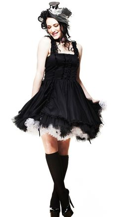love how the dress and petticoat blend together