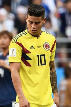 James Rodriguez hairstyle 2018 World Cup Russica Hair 2018, Unique Hairstyles, David Beckham, World Cup, Football, Hair Styles, Model, Tops, Fashion