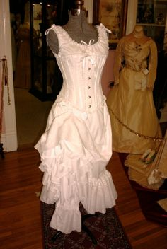 1000 images about victorian clothing on pinterest for Corset under wedding dress
