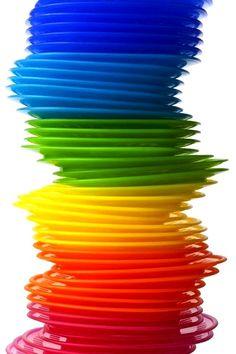 Rainbow Colored Plastic Plates Stock Photo - Image of heap, pile: 16606680 Love Rainbow, Taste The Rainbow, Over The Rainbow, Rainbow Colors, Rainbow Stuff, Rainbow Magic, Rainbow River, Rainbow Things, World Of Color