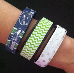 Seahawks Fitbit Cover. NEW! Fitbit Alta, Flex, Charge and ChargeHR Elastic Bands, Set/3: Seahawks Block (SE04), Green Mini Chevron (MC10), White/Silver Dots (PD13) by BananaWindDesign on Etsy