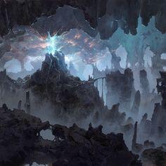 ArtStation - Old works, Vadim Shchepilov Fantasy City, Fantasy Places, Fantasy Story, Fantasy Kunst, Fantasy World, Dark Fantasy, Fantasy Art Landscapes, Fantasy Landscape, Fantasy Artwork