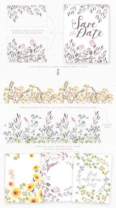 Watercolor floral edges+backgrounds by Lisa Glanz on Creative Market Wreath Watercolor, Watercolor Drawing, Watercolor Background, Watercolor Flowers, Watercolor Paintings, Watercolours, Floral Illustrations, Graphic Illustration, Karten Diy