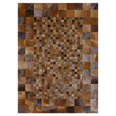 Graphic Beauty. Tahoe Cowhide Rug in Saddle $468