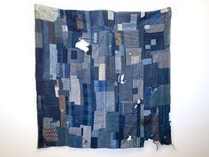 patchwork denim quilt Mondocane.com Japanese Indigo: Boro exhibition